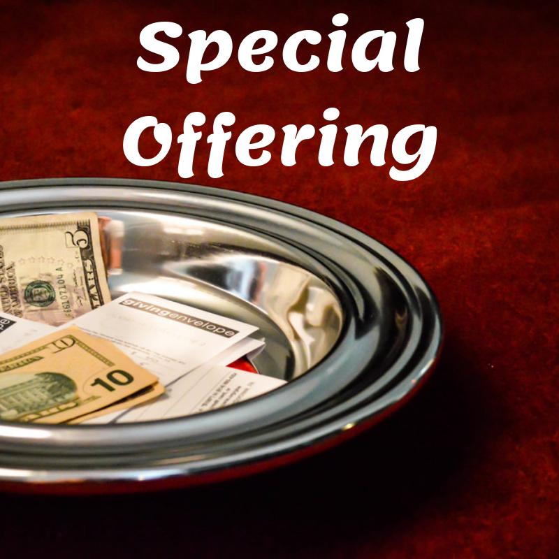 Special Offering  U2013 Batavia Covenant Church