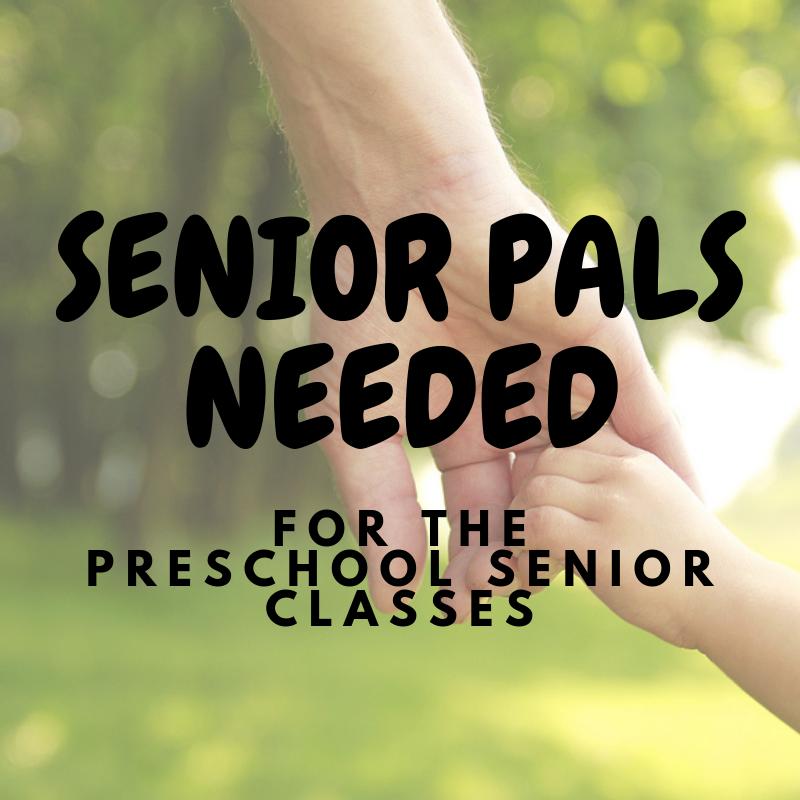 Senior Pals with preschool Senior Classes