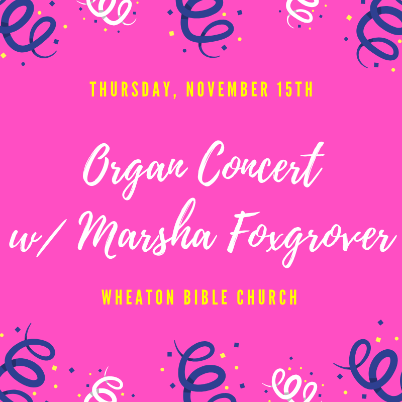 Organ Concert with Marsha Foxgrover